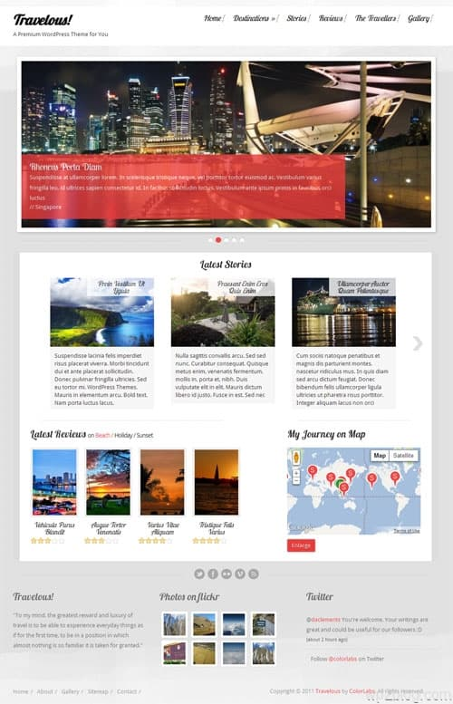 Travelous WordPress Travel Theme