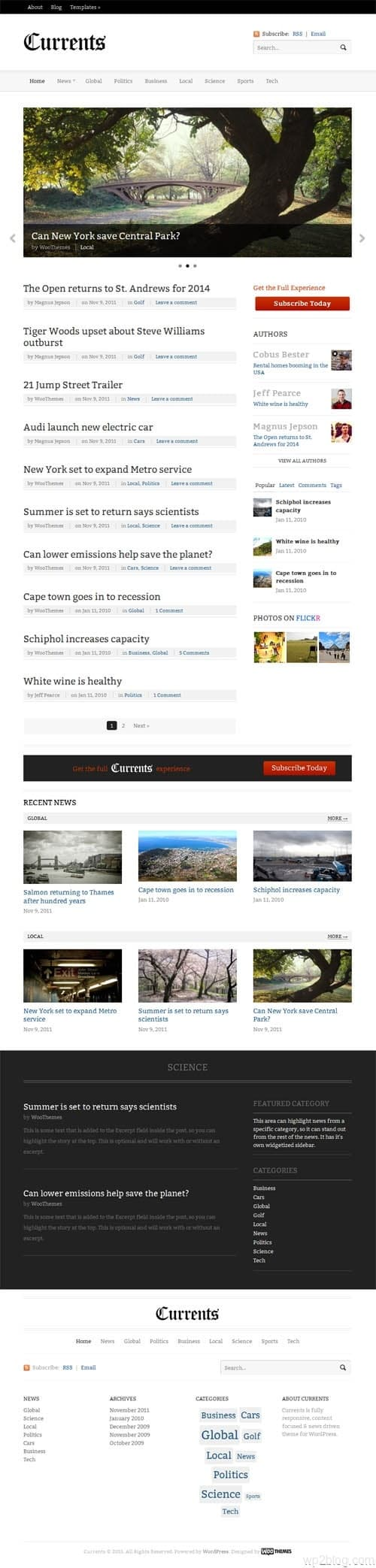 Currents Premium WordPress News Theme