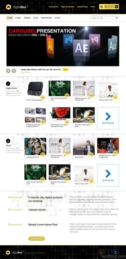 Digital Box Ecommerce WordPress Theme
