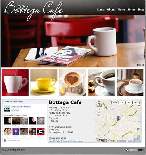 Bottega Premium WordPress Restaurant Theme