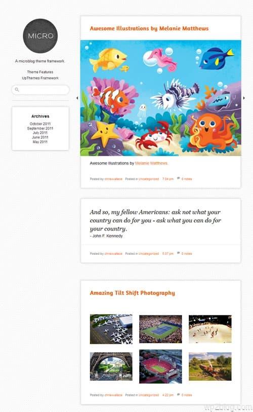 Microblog Theme Framework
