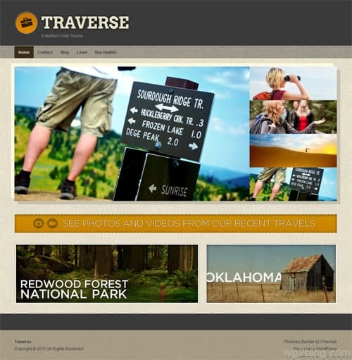 Traverse Travel WordPress Theme