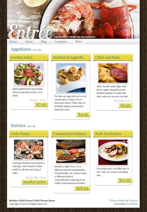 entree wordpress theme