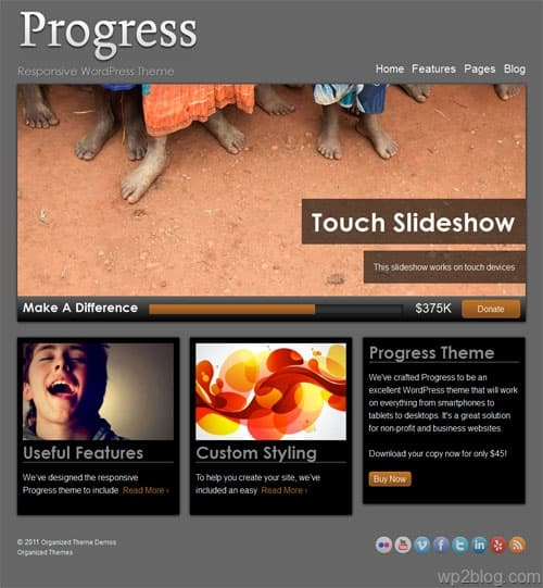 Progress A Responsive WordPress Theme