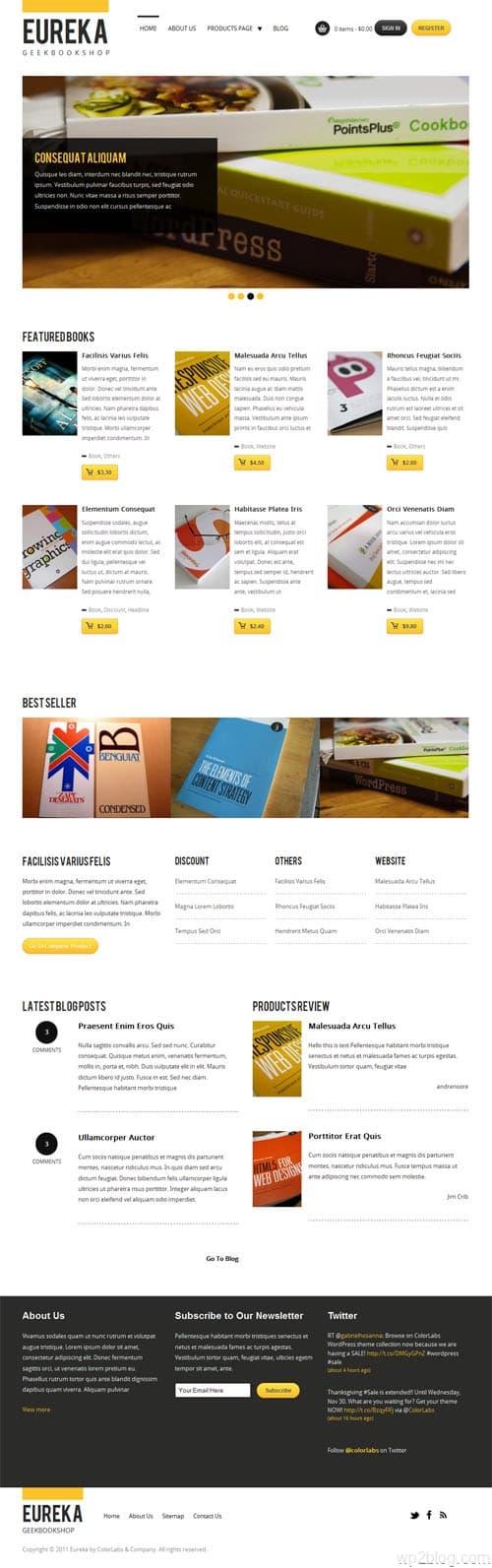 Eureka Ecommerce WordPress Theme
