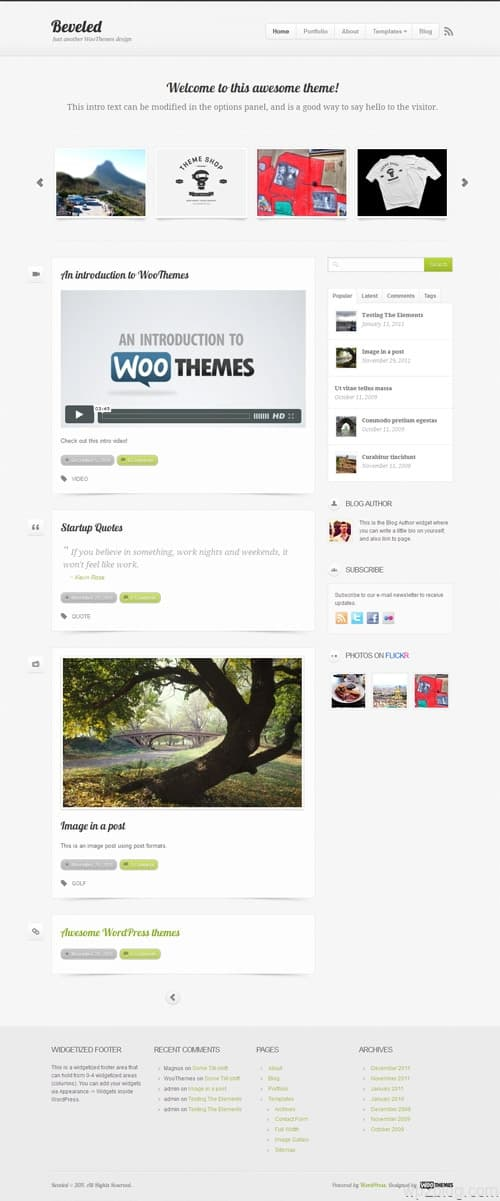 Beveled Premium WordPress Theme