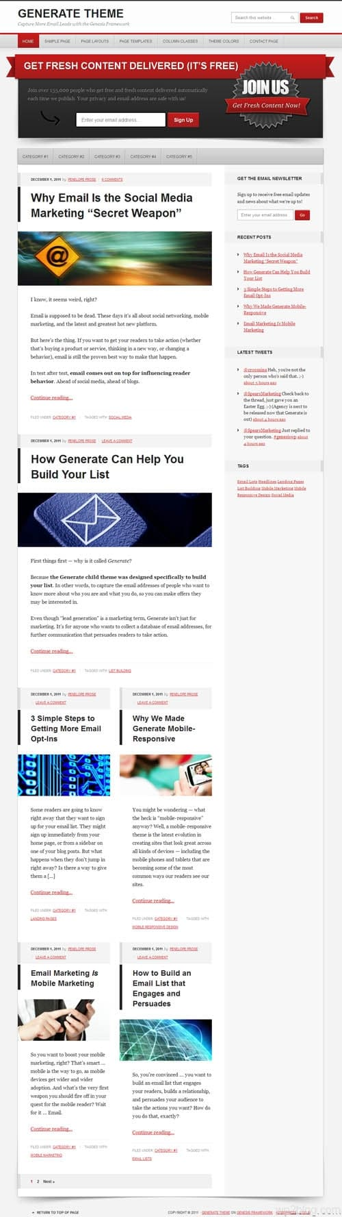 Generate Premium WordPress Theme