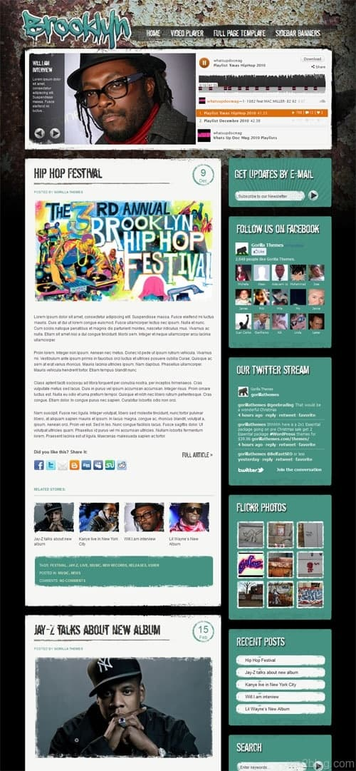Brooklyn Entertainment WordPress Theme