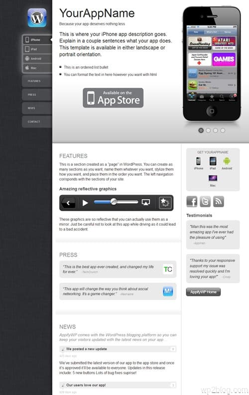 AppifyWP WordPress App Theme
