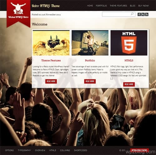 Retro HTML 5 Premium WordPress Theme