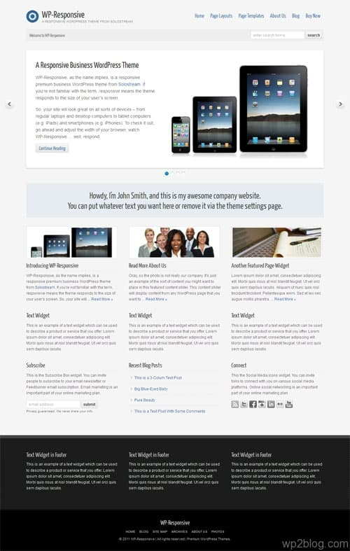 WP Responsive Premium WordPress Theme
