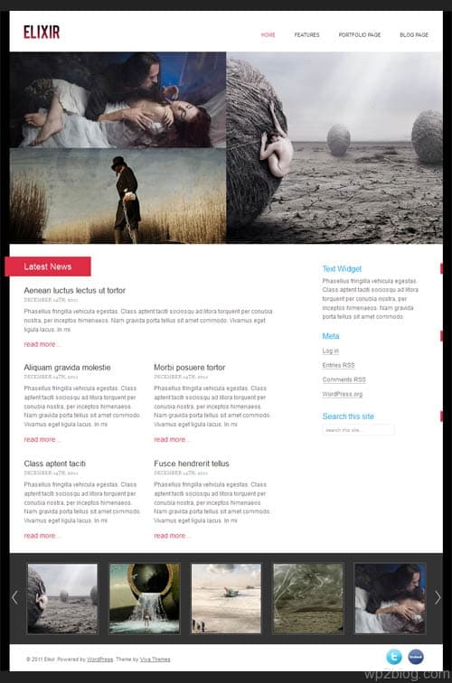 Elixir Portfolio WordPress Theme