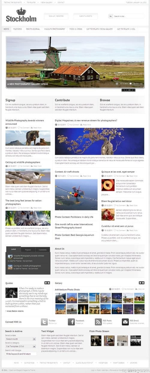 Stockholm WordPress Theme