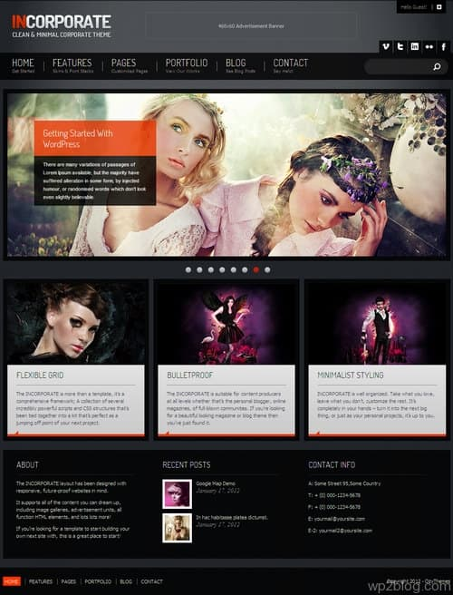 Incorporate WordPress Theme
