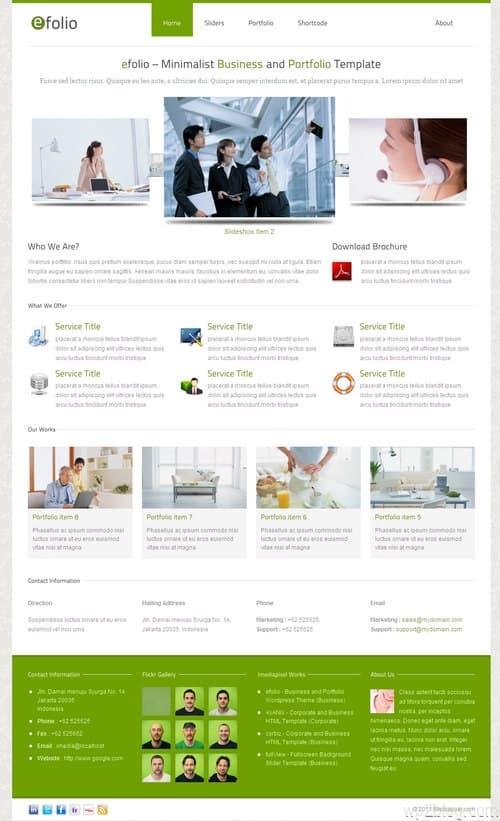 efolio WordPress Theme
