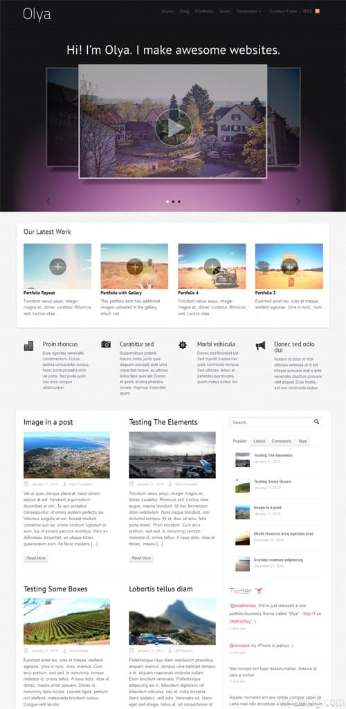 Olya Business Portfolio WordPress Theme