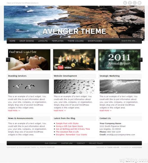 Avenger WordPress Theme