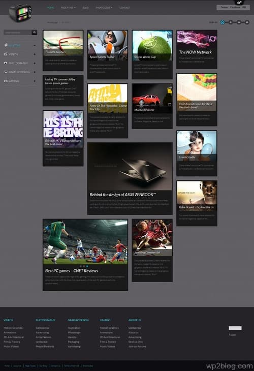 VideoGrid WordPress Theme