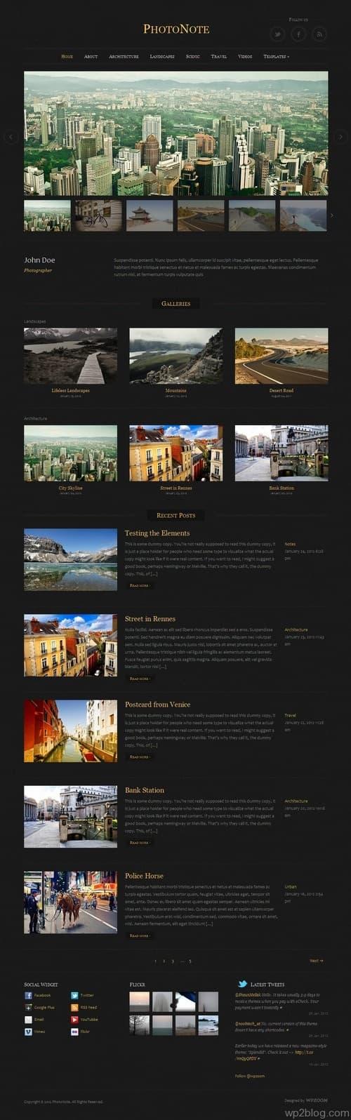 PhotoNote WordPress Theme