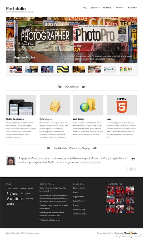 Portofolio Premium WordPress Theme