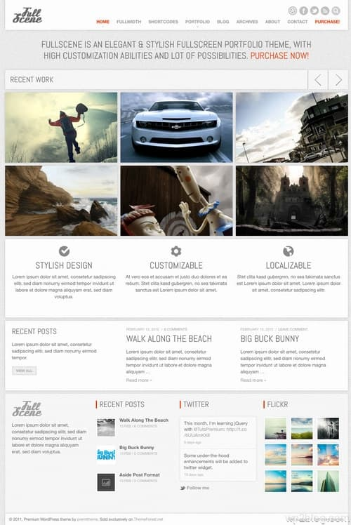 Fullscene WordPress Theme
