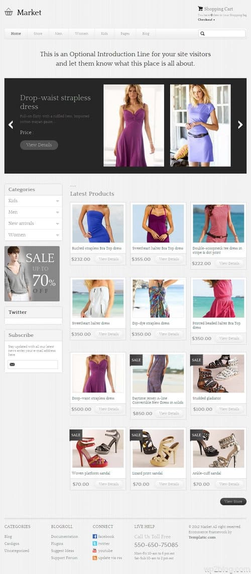 Market WordPress Theme