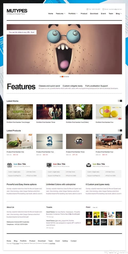 MuTypes WordPress Theme