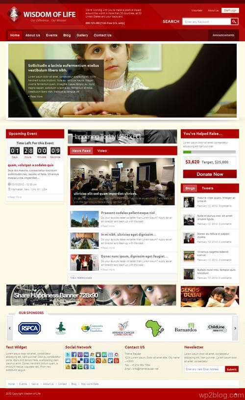 Wisdom Of Life WordPress Theme