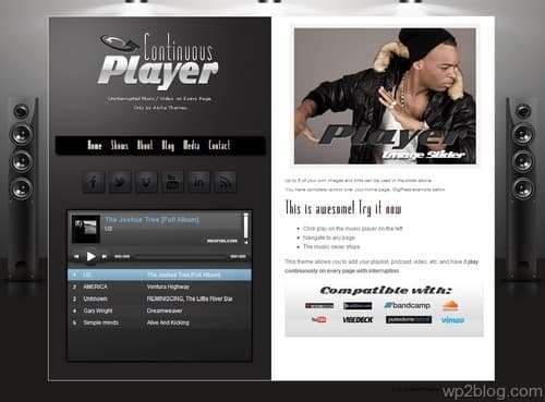 Continuous Player WordPress Theme
