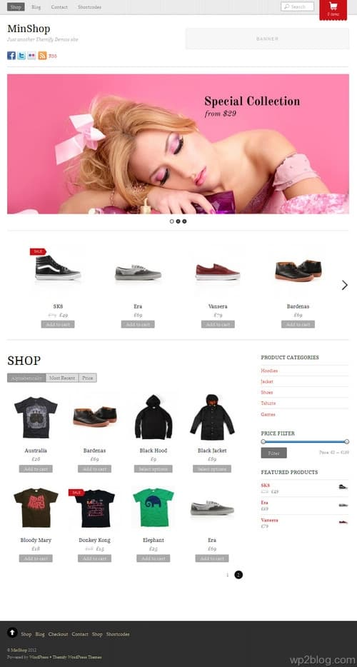 MinShop WordPress Theme