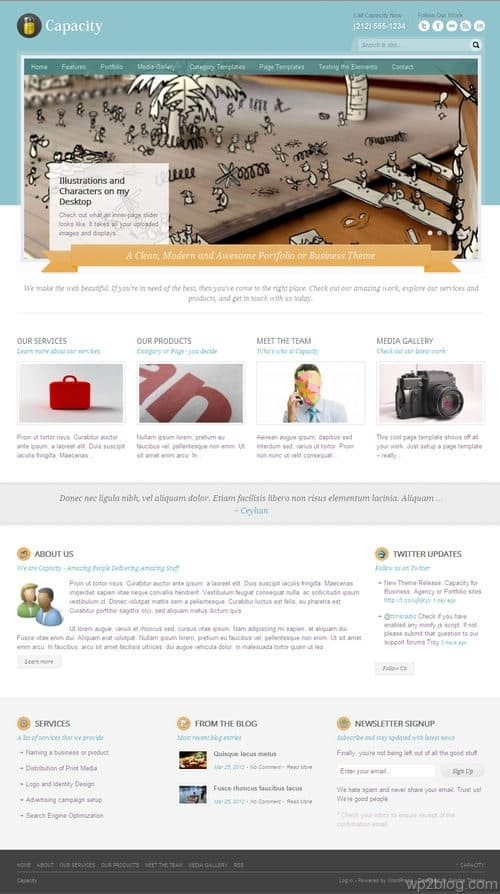Capacity WordPress Theme