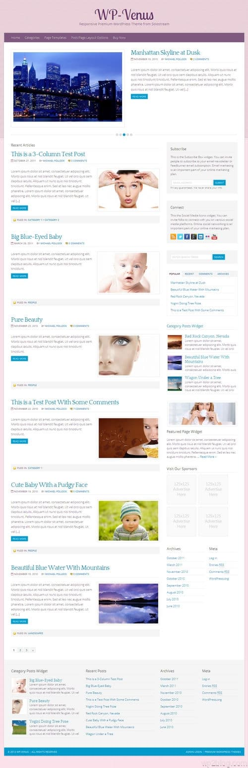 WP-Venus WordPress Theme