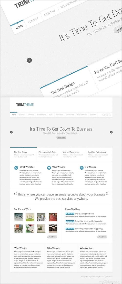 Trim WordPress Theme Preview