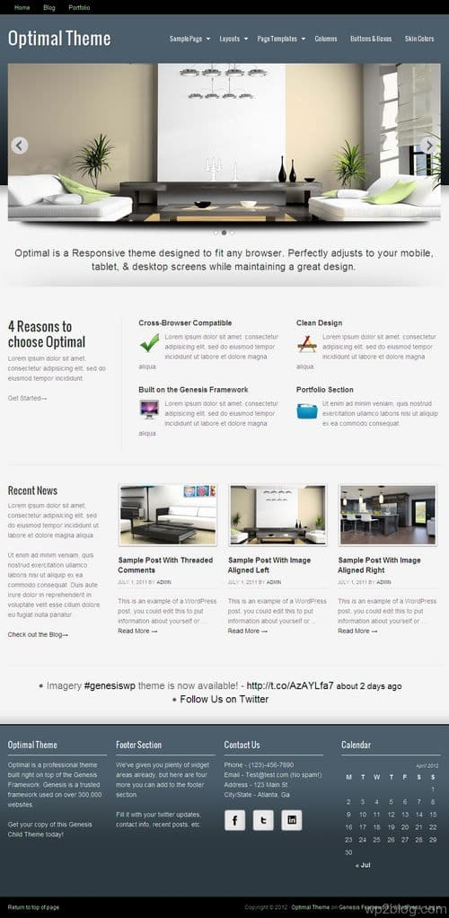 Optimal WordPress Theme