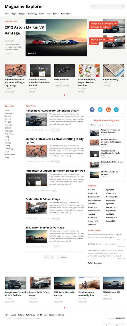Magazine Explorer WordPress Theme