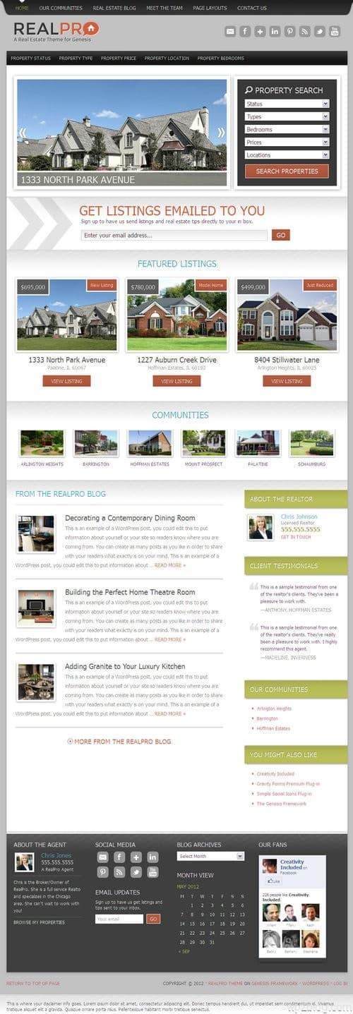 RealPro WordPress Theme