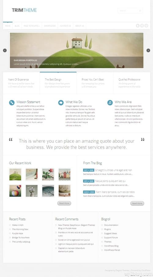 Trim WordPress Theme