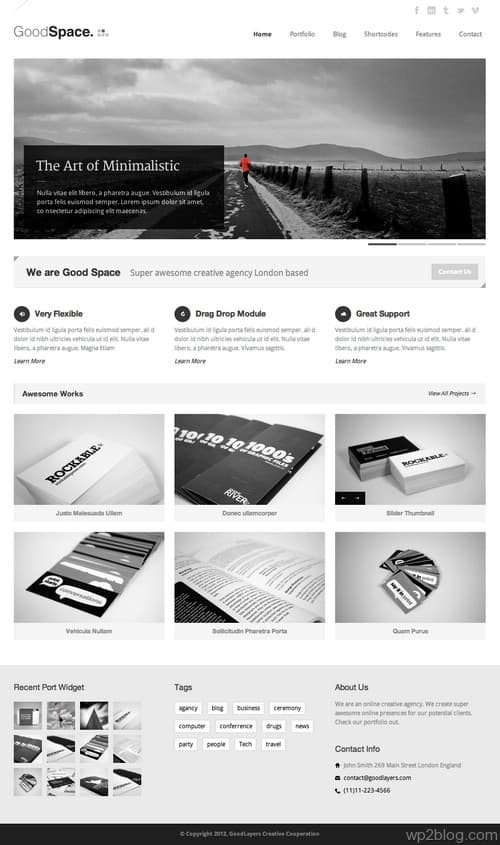 Good Space WordPress Theme