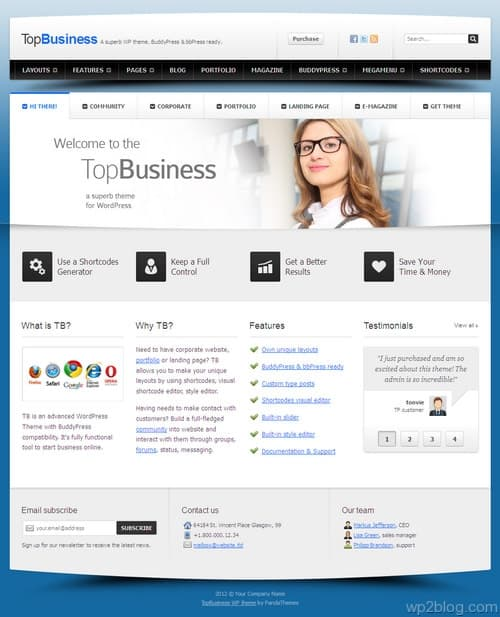 TopBusiness WordPress Theme