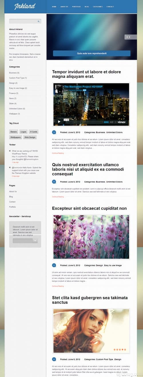 Inkland WordPress Theme