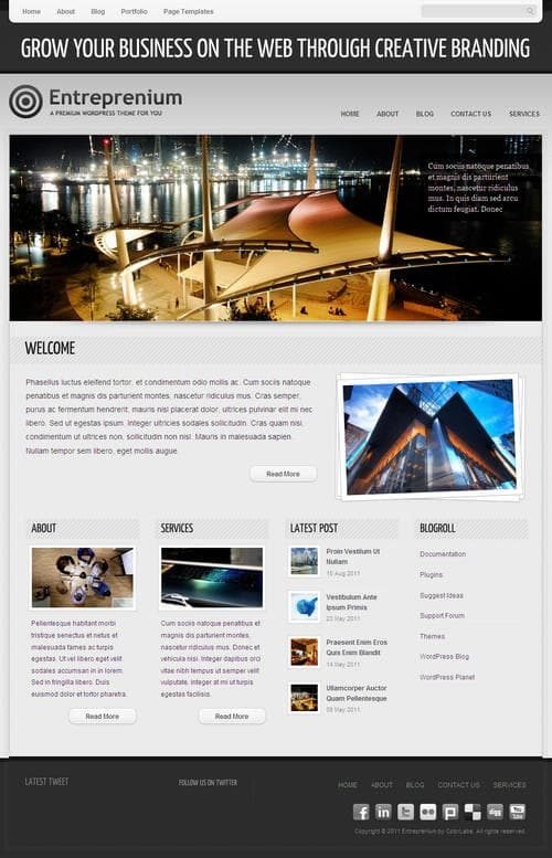 Entreprenium WordPress Theme