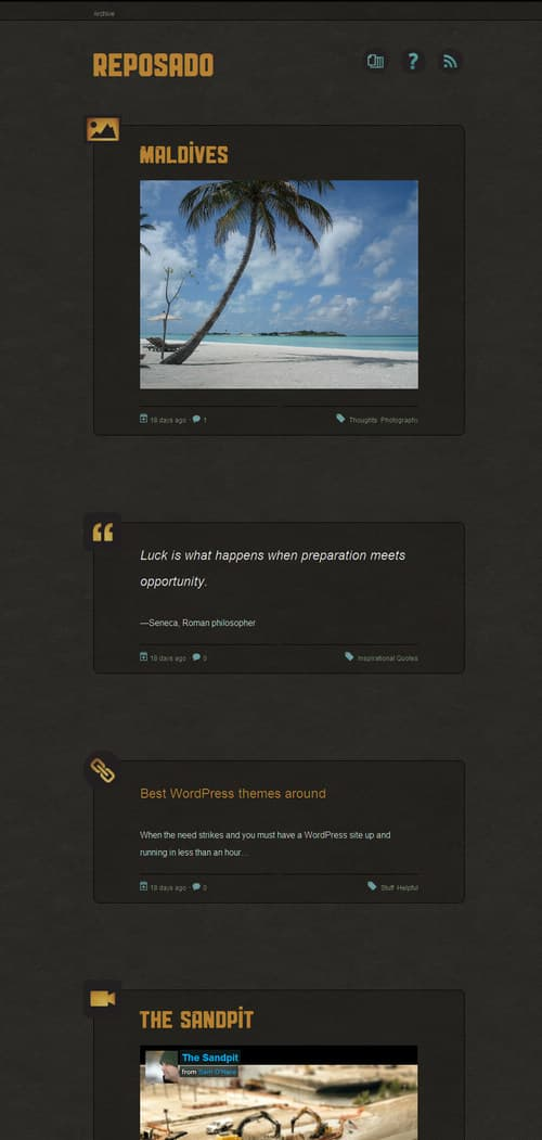 Reposado WordPress Theme