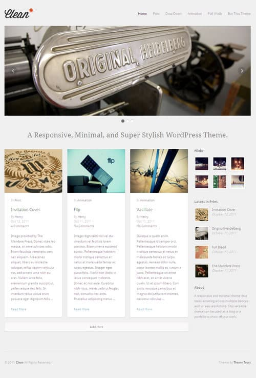 Clean WordPress Theme