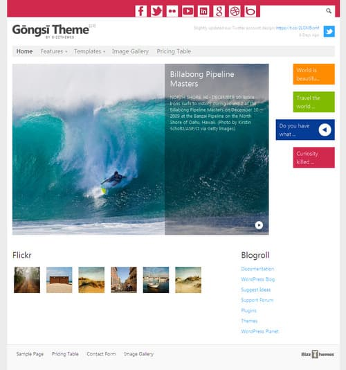 Gongsi WordPress Theme
