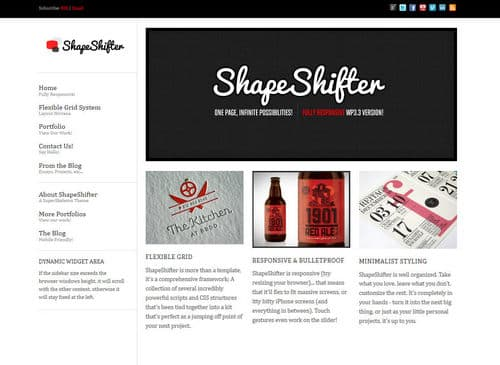 ShapeShifter 2 Responsive WordPress Theme