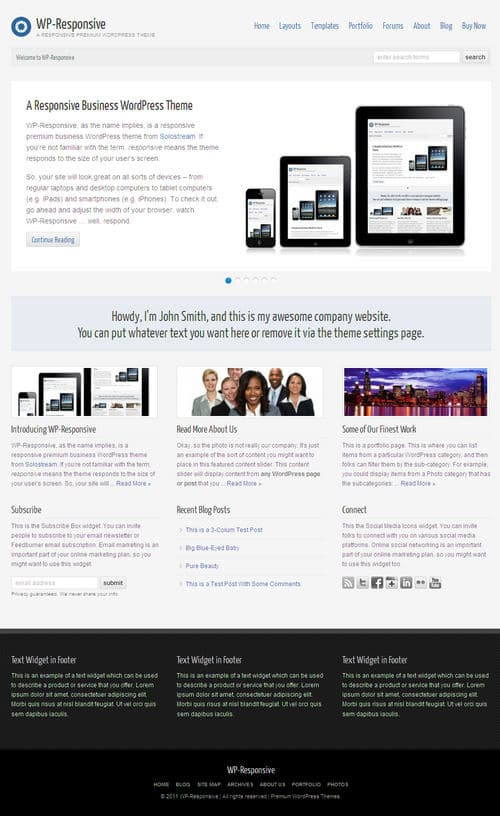 WP-Responsive WordPress Theme