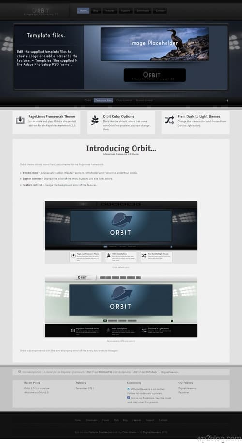 Orbit - A Pagelines framework 2.0 Theme