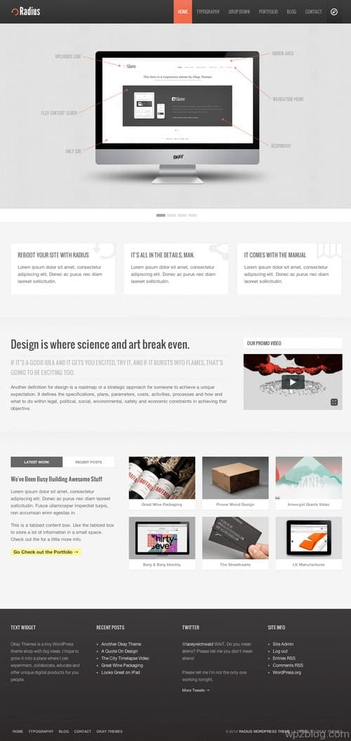 Radius WordPress Theme