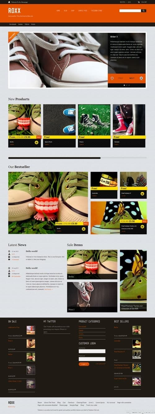 Roxx WordPress Theme