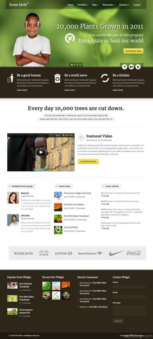 Green Earth WordPress Theme